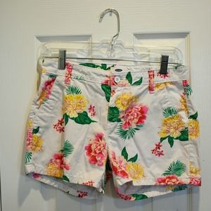 Size 16 White Old Navy Girls Floral Printed Shorts